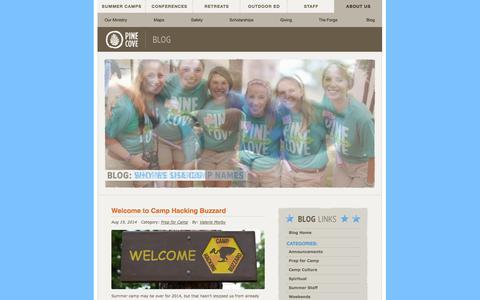 Screenshot of Blog pinecove.com - Pine Cove Blog - captured Sept. 19, 2014