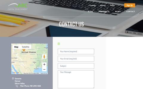 Screenshot of Contact Page arccd.com - Contact «  Arc - captured Oct. 4, 2018