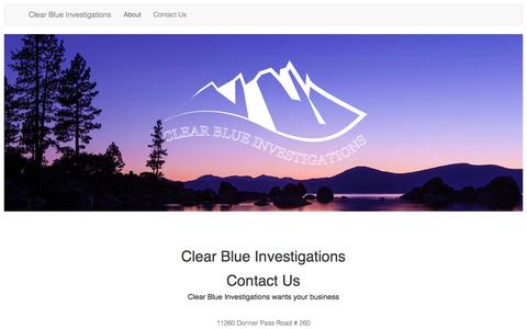 Screenshot of Contact Page clearblueinvestigations.com - Contact Clear Blue - captured July 13, 2016