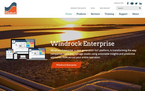 Screenshot of Home Page windrock.com - Windrock, Inc. - Engine & Compressor Analysis Services and Systems - captured Oct. 18, 2018