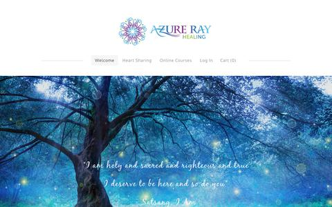 Screenshot of Home Page azurerayhealing.com - Azure Ray Healing - Welcome - captured July 14, 2018