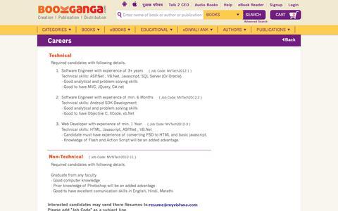 Screenshot of Jobs Page bookganga.com - BookGanga - Creation | Publication | Distribution - captured Oct. 21, 2018