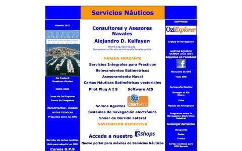 Screenshot of Home Page servicios-nauticos.com.ar - Servicios Nauticos - captured Sept. 30, 2014