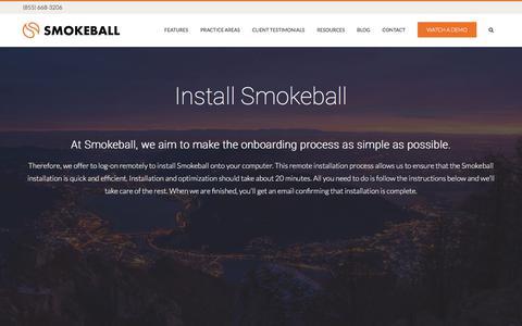 Install - Smokeball
