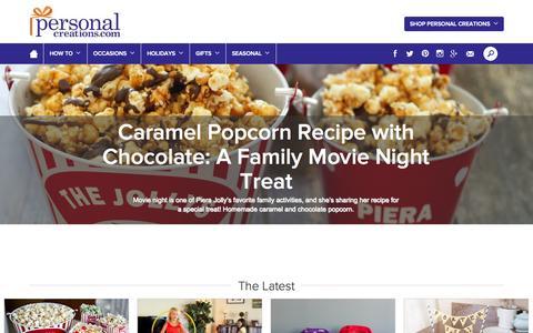 Screenshot of Blog personalcreations.com - Personal Creations Blog   Personal Creations Blog - captured Sept. 18, 2014