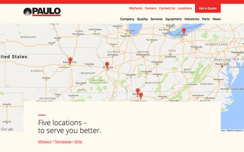 Screenshot of Locations Page paulo.com - Locations Archive | Paulo - captured Oct. 28, 2016