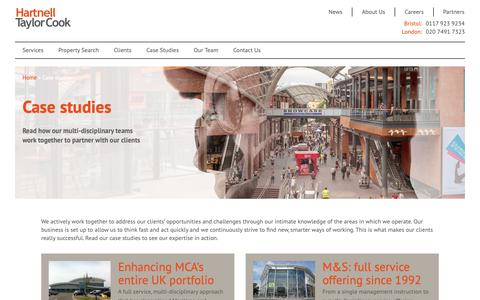 Screenshot of Case Studies Page htc.uk.com - Case studies - Hartnell Taylor Cook LLP - Independent Property Consultancy : Hartnell Taylor Cook LLP – Independent Property Consultancy - captured Sept. 27, 2018
