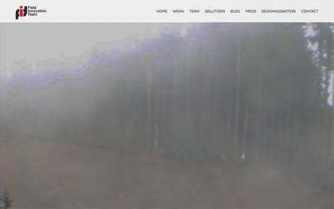 Screenshot of Home Page fieldinnovationteam.org - The Field Innovation Team - captured Sept. 30, 2014