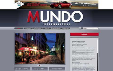 Screenshot of Home Page mundointernacional.com.mx - Revista Mundo Internacional - captured Sept. 21, 2015