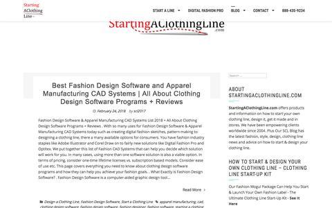 Screenshot of Blog startingaclothingline.com - Start a Clothing Line | StartingAClothingLine.com - captured Sept. 23, 2018