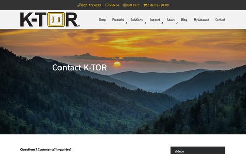 Screenshot of Contact Page k-tor.com - Contact K-TOR | Contact Kenneth Torino - captured Oct. 1, 2018