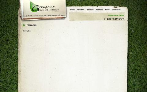 Screenshot of Jobs Page greenprintlawncare.com - Fort Myers Lawn Care | Careers | Greenprint Lawn & Landscape - captured Oct. 3, 2014