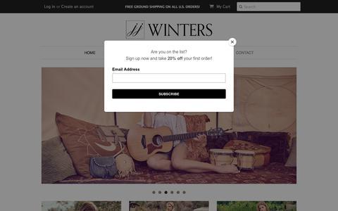 Screenshot of Home Page jjwinters.com - JJ Winters | Handbags & Accessories - captured July 26, 2018