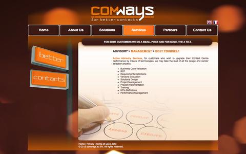 Screenshot of Services Page comways.eu - Comways : For Better Contacts - captured Oct. 3, 2014