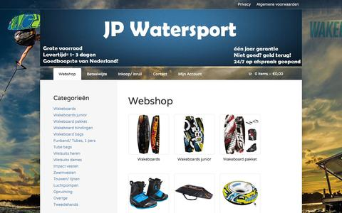 Screenshot of Home Page jpwatersport.nl - Producten | JP Watersport - captured Sept. 30, 2014