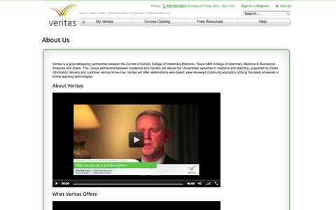 Screenshot of About Page veritasdvm.com - About Veritas - Online Education and Courses in Veterinary Medicine - Veritas - captured Oct. 26, 2014