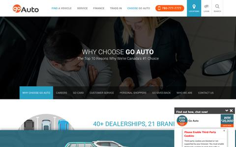 Screenshot of About Page goauto.ca - New and Used Cars for sale in Edmonton | Go         Auto - captured April 23, 2018