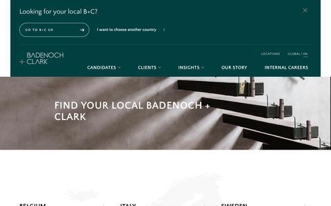 Screenshot of Locations Page badenochandclark.com - Find Your Local Badenoch + Clark - captured April 27, 2019