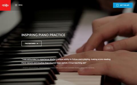 Screenshot of Maps & Directions Page tonara.com - Wolfie for piano app - Tonara and Wolfie for Piano - captured Jan. 18, 2016