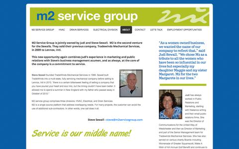 Screenshot of About Page webs.com - m2servicegroup - About - captured Oct. 23, 2014