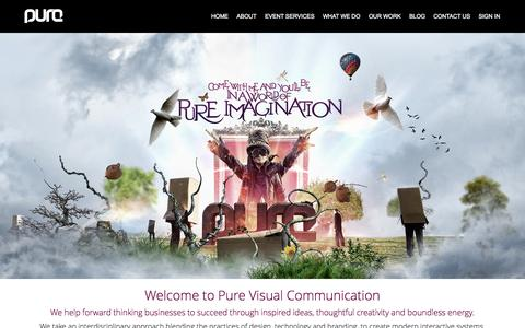 Screenshot of Home Page purevc.co.uk - Pure Visual Communication - captured Oct. 3, 2014