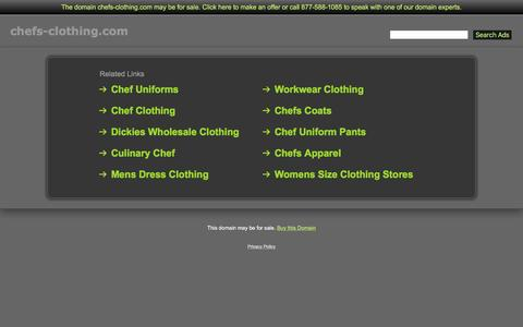 Screenshot of Home Page chefs-clothing.com - Chefs-Clothing.com - captured July 12, 2016