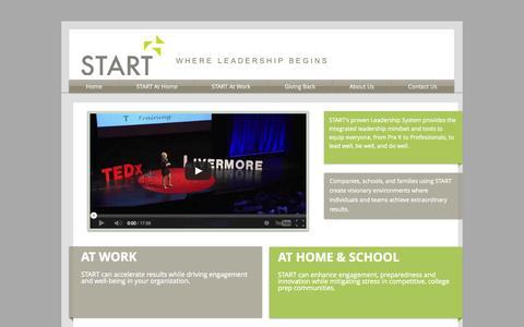 Screenshot of Home Page start-leadership.com - START Leadership - captured Sept. 30, 2014