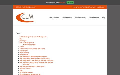 Screenshot of Site Map Page clm.co.uk - Sitemap - CLM - captured Oct. 6, 2016