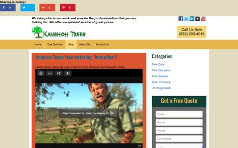 Screenshot of Blog kanshohtrees.com - BlogKanshoh Trees – Tree Service Houston TX | Kanshoh Trees - Tree Service Houston TX - captured Oct. 16, 2017