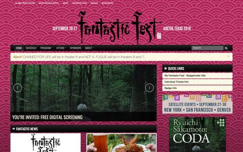 Screenshot of Home Page fantasticfest.com - Fantastic Fest - captured Nov. 6, 2018