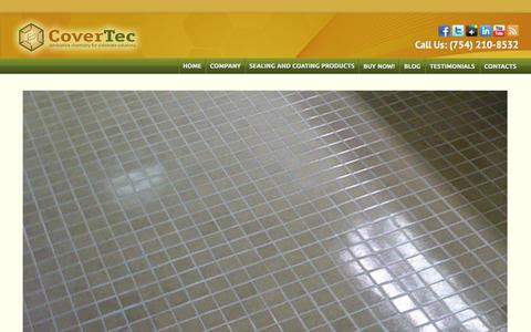 Screenshot of Home Page covertecproducts.com - High Quality Floor Sealing Products | Floor Coating Products - captured Oct. 3, 2014
