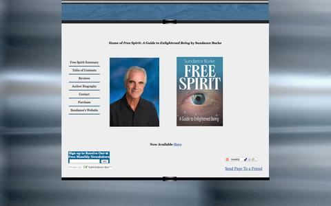 Screenshot of Home Page freespirit-sundance.org - Free Spirit: A Guide to Enlightened Being by Sundance Burke - captured June 13, 2016