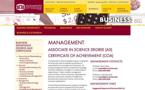 Screenshot of Team Page losrios.edu - Management - Business Department - Sacramento City College - captured Sept. 24, 2014