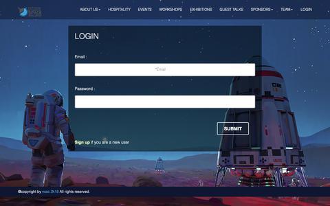 Screenshot of Login Page nssc.in - NSSC | LOGIN - captured Oct. 20, 2018