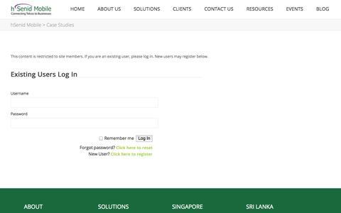 Screenshot of Case Studies Page hsenidmobile.com - Case Studies | hSenid Mobile - captured Nov. 2, 2014