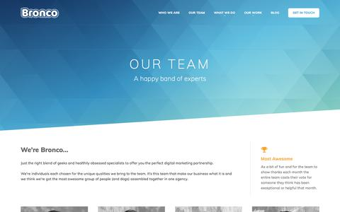 Screenshot of Team Page bronco.co.uk - Our Team   There's Always A Solution   Bronco : Creative Digital Agency - captured June 27, 2017
