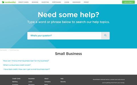 Small Business – Nerdwallet