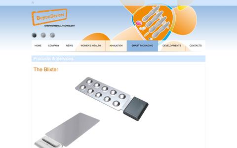 Screenshot of Products Page beyondevices.eu - Products & Services - captured Sept. 30, 2014