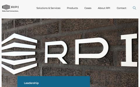 Screenshot of Team Page rpiprint.com - Leadership | RPI print - captured Sept. 14, 2019