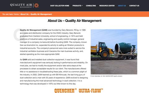 Screenshot of About Page qamanage.com - About US - Quality Air Management - captured Sept. 28, 2018