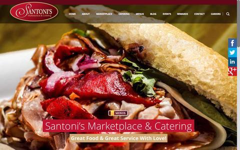 Screenshot of Home Page santonis.com - Santoni's Marketplace & Baltimore CateringSantoni's Marketplace & Catering | Baltimore, Maryland's Best Caterer - captured Sept. 18, 2015