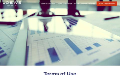 Terms of Use | Loews Hotels and Resorts