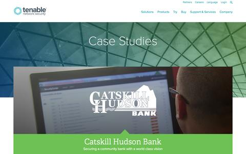Screenshot of Case Studies Page tenable.com - Case Studies | Tenable Network Security - captured June 14, 2016