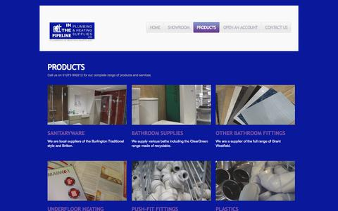 Screenshot of Products Page inthepipelineltd.co.uk - Products  |  InThePipelineLtd - captured Jan. 8, 2016