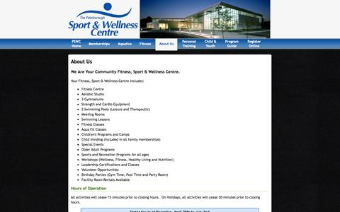 Screenshot of About Page Hours Page peterborough.ca - About Us - captured Sept. 25, 2014