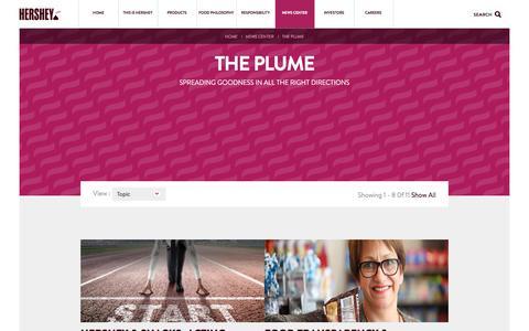 Screenshot of Blog thehersheycompany.com - The Hershey Company   The Plume - captured April 28, 2016