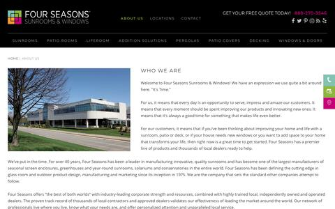 About Us | Four Seasons Sunrooms