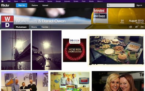 Screenshot of Flickr Page flickr.com - Flickr: Workmates & Daniel Owen's Photostream - captured Oct. 26, 2014