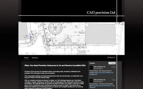 Screenshot of Home Page cad-precision.com - CAD precision Ltd - CAD Consultancy - captured Oct. 1, 2014