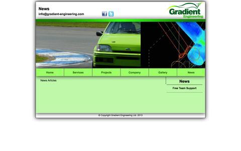 Screenshot of Press Page gradient-engineering.com - Gradient Engineering Ltd - www.gradient-engineering.com - captured Oct. 3, 2014